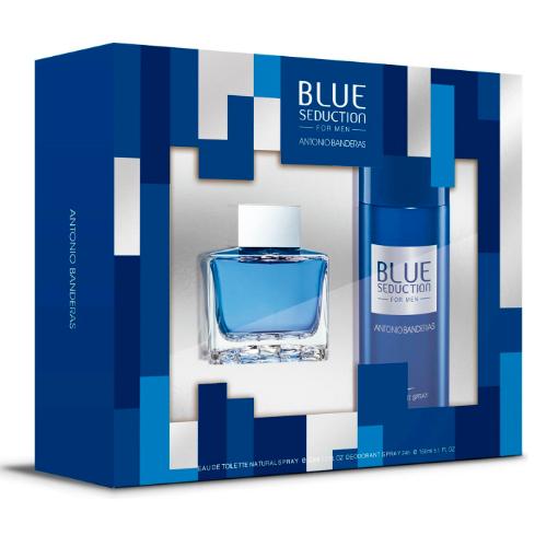 SET PERFUME BLUE SEDUCTION FOR MEN 50ML + DEO 150ML