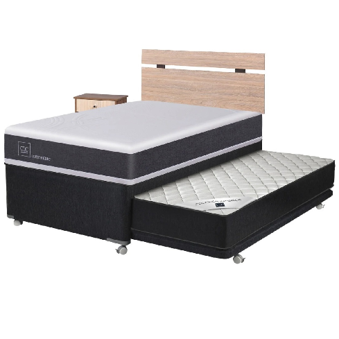 DIVAN CIC 1.5 PL NEW ORTOPEDIC BLACK + SET OLMO