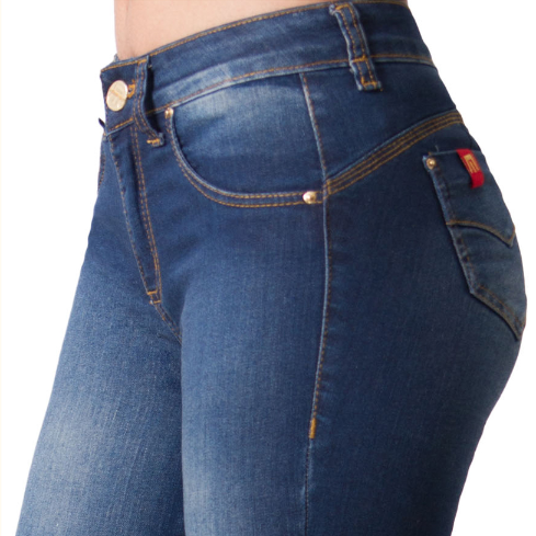 JEANS TRI-BLEND AZUL MOHICANO