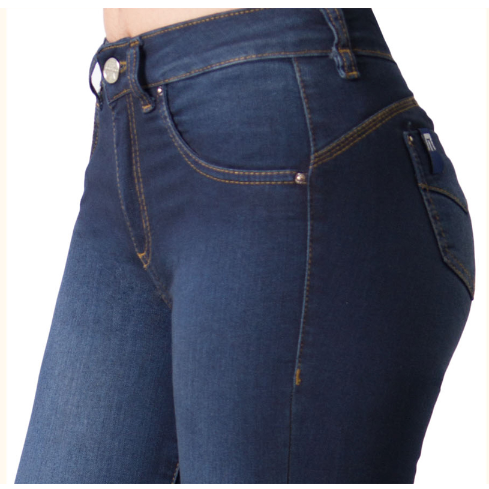 JEANS TRI-BLEND AZUL OSCURO MOHICANO